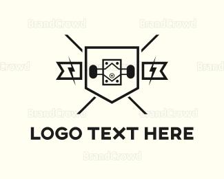 Board - Skate Shield logo design