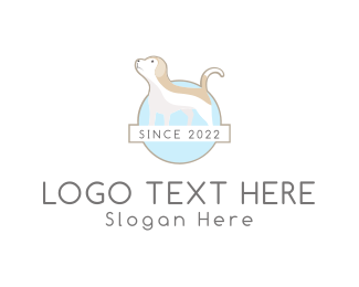 Brown Dog - Dog Clinic logo design
