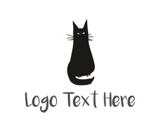 Witch - Cat Illustration logo design