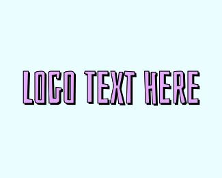 Uppercase - Beach Text logo design