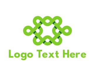 Join - Green Interlace logo design