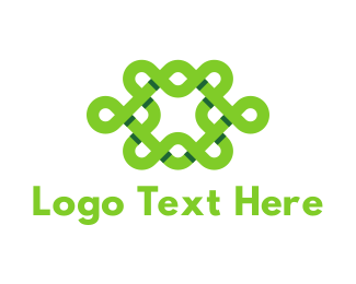 Interlace - Green Interlace logo design