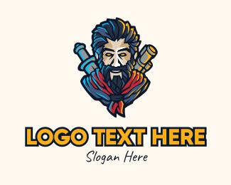 Explorer - Gaming Hunter Character logo design