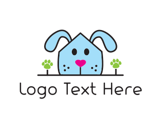 Dog Sitting - Dog House logo design