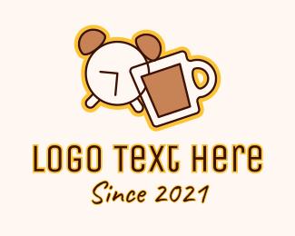 Ringing - Coffee Alarm Clock logo design