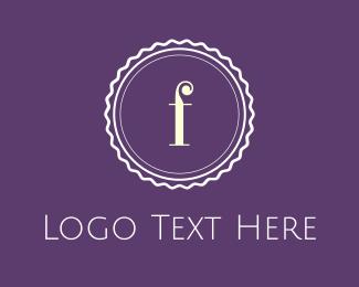 Purple Cupcake - Purple F Emblem logo design