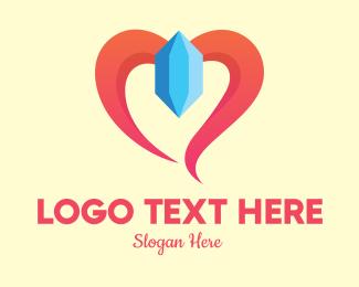 Crystal - Lovely Crystal Gem logo design
