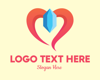 Crystal - Crystal Gem Heart logo design