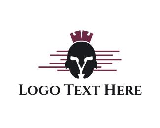 Greek God - Spartan Helmet logo design