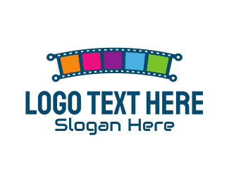 Cinema - Entertainment Film Reel logo design