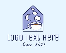 Night - Night Coffee Cafe logo design