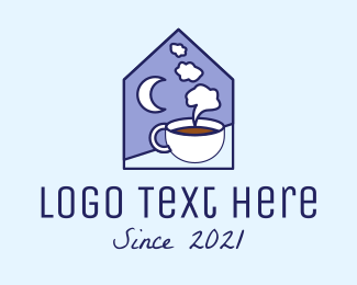 Midnight - Night Coffee Cafe logo design