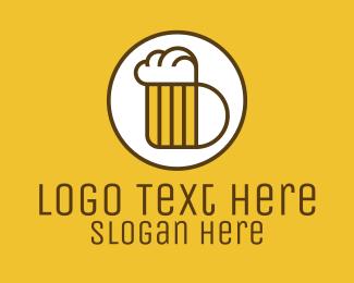 Beer Mug - Beer Mug Letter B logo design