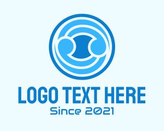 Button - Blue Ball  logo design