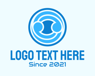 Symmetry - Blue Ball  logo design