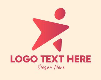Actor - Gradient Celebrity Superstar logo design