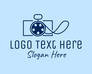 Vlogging - Camera Film Reel  logo design