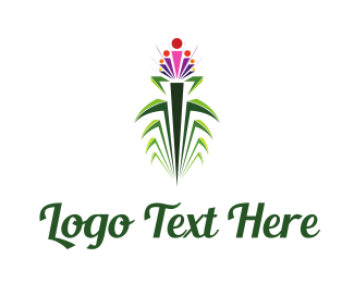Beauty Salon - Tropical Flower logo design