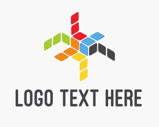 Manufacture - Color Boxes logo design