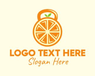 Citric - Orange Fruit Kettlebell logo design