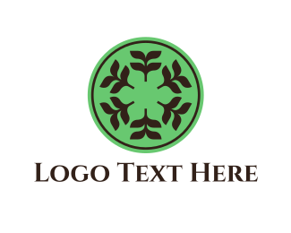Tea - Floral Circle  logo design