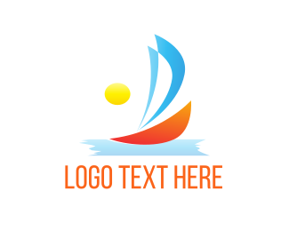 Florida - Sunny Sailboat  logo design