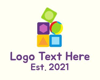 Preschool - Preschool Toy Blocks logo design