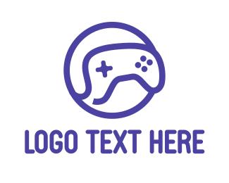 Console - Blue Outline Gaming logo design