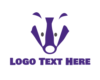 Honey Badger - Purple Badger logo design