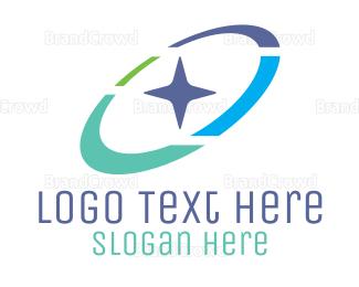 Star - Colorful Orbit Star logo design
