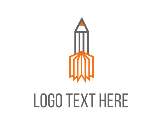 Publisher - Pencil Rocket  logo design