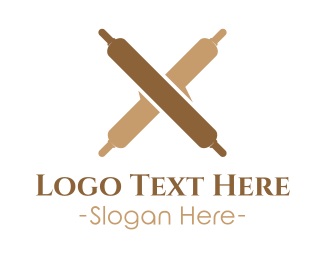 Pastry - Bakery Rollin Pins logo design