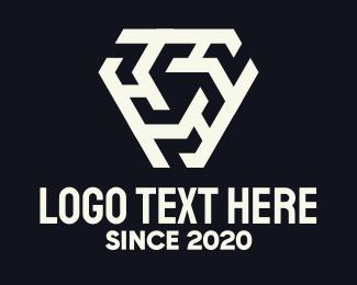 Tattoo - Abstract Triple H Pattern logo design