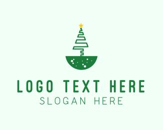 Christmas Decoration - Christmas Tree logo design