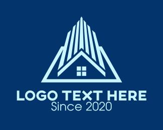 House - Blue Residential Home logo design