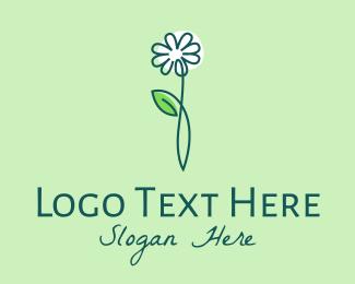 Flower Boutique - Minimalist White Flower logo design