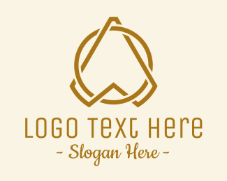 Finance - Gold Letter A Arrow  logo design