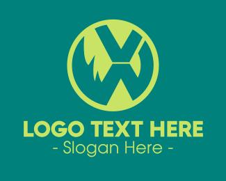 Technology - Modern Green Letter X Symbol logo design