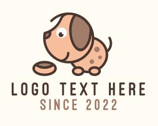 Eating - Puppy Dog Food Treat logo design