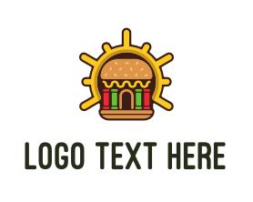 Burger - Hamburger Burger Shop logo design