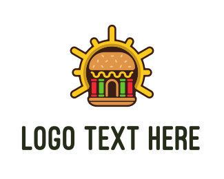 Pillars - Hamburger Burger Shop logo design
