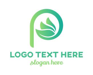 Organic - Organic P logo design