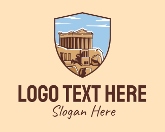 Landmark - Athens Greece Landmark logo design