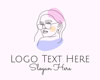 Fashion Designer - Fashion Woman Sunglasses logo design