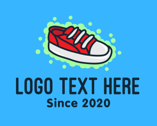Shoe Store - Red Sneaker Shoes logo design