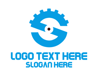 Mechanical - Gear Letter S logo design
