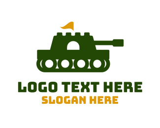 Fortress - Fortress Army Tank  logo design