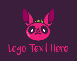 Bat - Cute Bat Character logo design