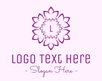 Marigold - Decorative Purple Flower logo design