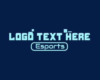Esports - Esports Pixel Wordmark logo design